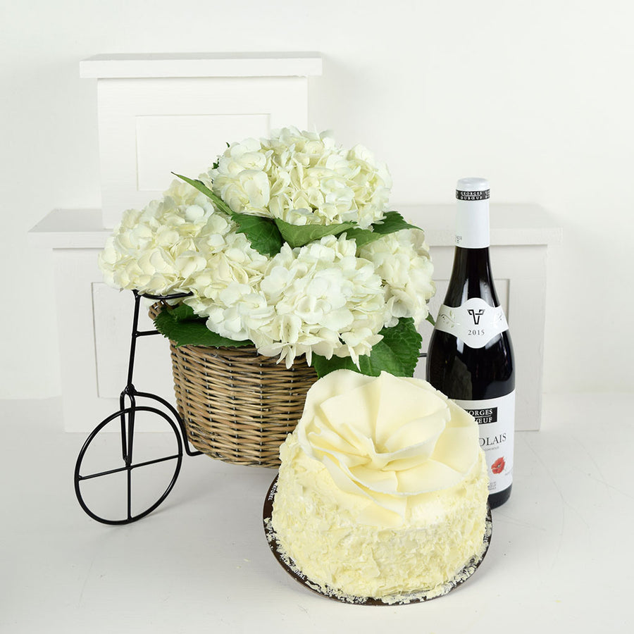 Parisian Dreams Flowers & Wine Gift