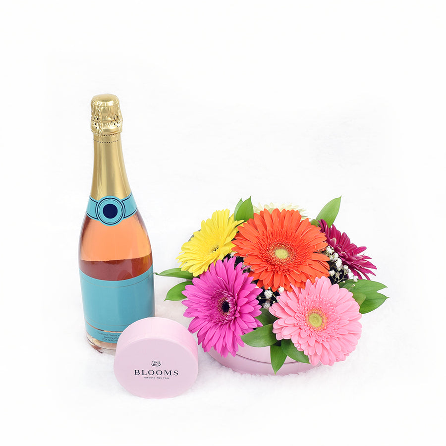 Posh Delights Champagne & Flower Gift