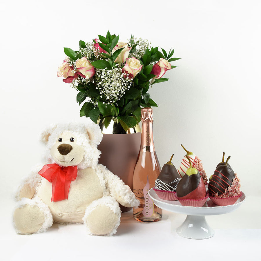Pure Chic Flowers & Champagne Gift