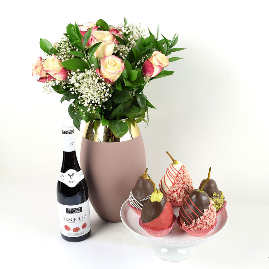 Pure Love Flowers & Wine Gift
