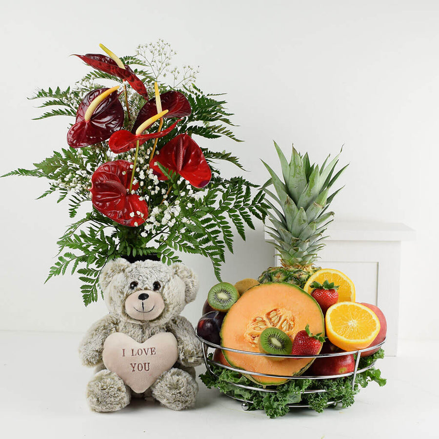 Sending Loving Thoughts Flower & Fruit Combo