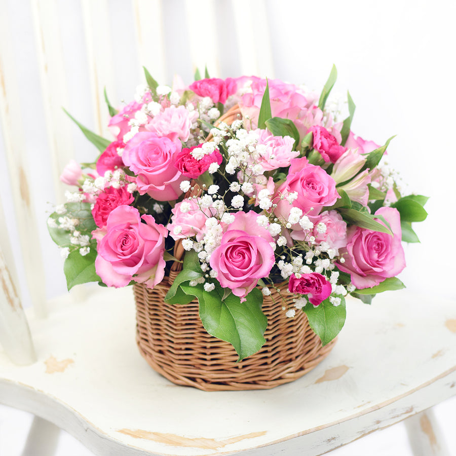Simply Sweet Spring Flower Basket