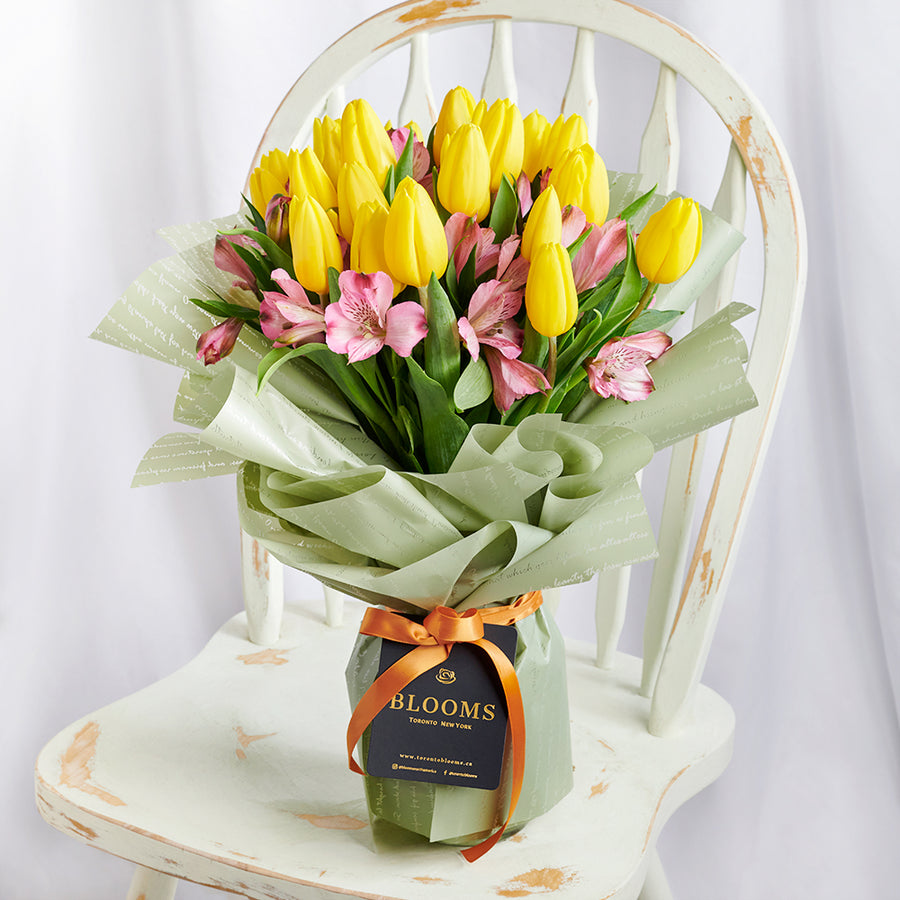 Tulip and alstroemeria mixed bouquet. Same Day Toronto Delivery.