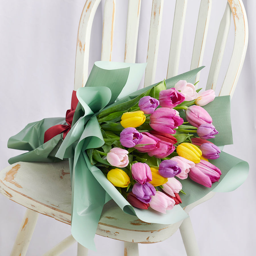 Toronto Same Day Flower Delivery - Toronto Flower Gifts - Pink Tulip Bouquet