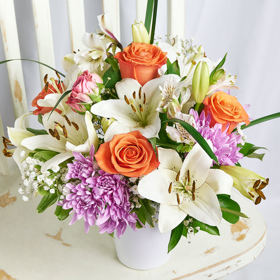 Spring Rose & Lily Arrangement – Floral Gifts – Toronto delivery