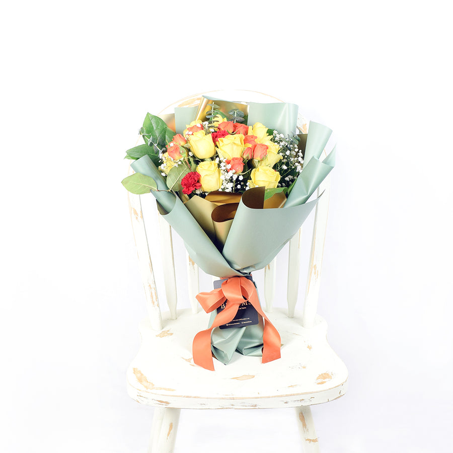 Mixed Yellow and Orange Rose Bouquet - Toronto Delivery