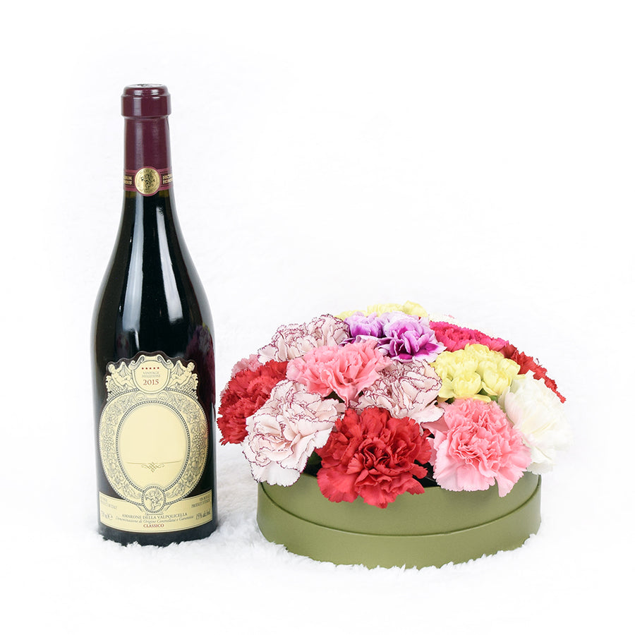 Take Me To Versailles Flowers & Wine Gift
