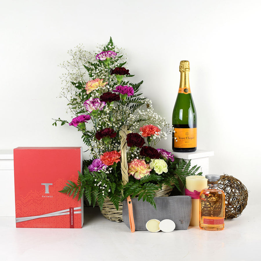 Thymes Beauty Champagne & Flower Gift