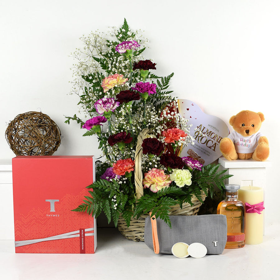 Thymes Birthday Bash Chocolate & Flower Gift