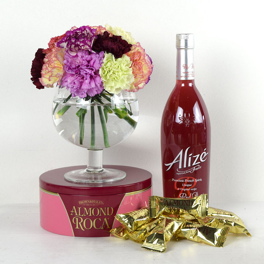"""You're On My Mind"" Flowers & Wine Gift"