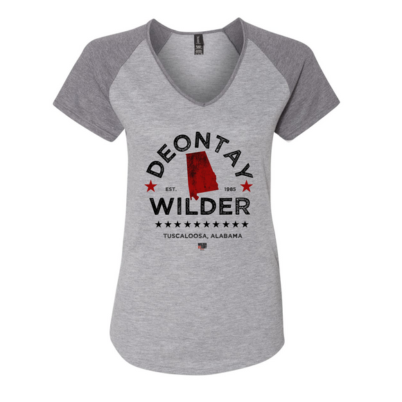 Deontay Wilder - Alabama Women's Baseball Tee
