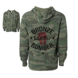 "Deontay Wilder ""Bronze Bomber"" Glove Unisex Zip Up Hoodie"