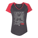 "Tyson Fury - ""Gypsy King"" Starburst Women's Baseball Tee"