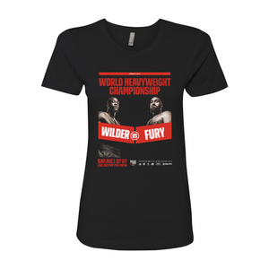 Wilder Vs. Fury - Key Art (Alternate) Women's T-Shirt