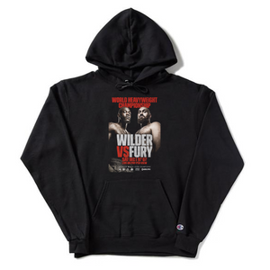 Wilder Vs. Fury - Key Art - Black Champion Pullover Hoodie
