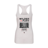 Wilder Vs. Fury - Stars Women's Racerback Tank Top