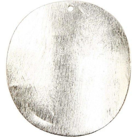 Big Circle 40X40X1 Mm Brushed Sil