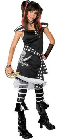 Child Teen Scar-Let Pirate Girls Costume
