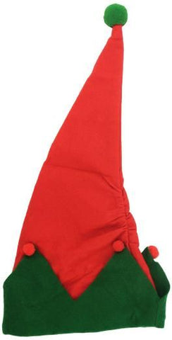Elf Hat - Red With Green Edge