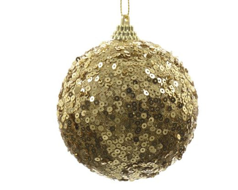 Light Gold Bauble With Round Spangles