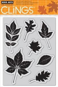 Rubber Stamps Scattered Leaves