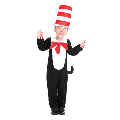 Child The Cat in the Hat Jumpsuit Unisex Costume