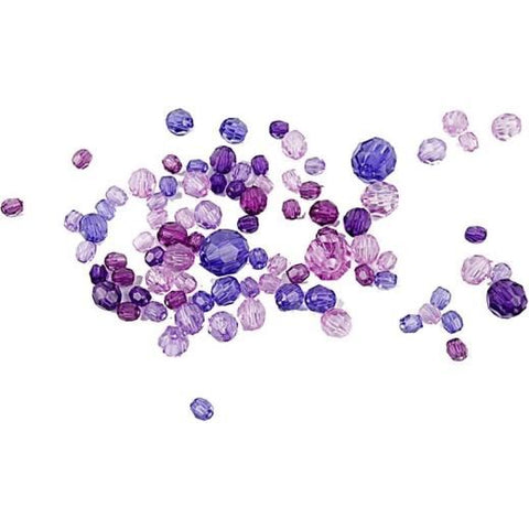 Faceted Bead Mix 6 Purple Harmony