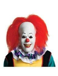 Stephen King's Deluxe Pennywise It Clown Full Overhead Mask New