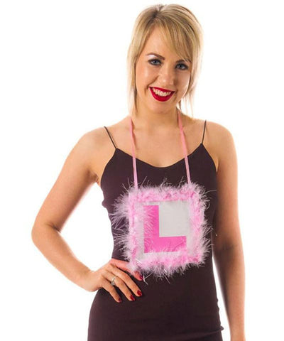Hen Party L Plate Feather