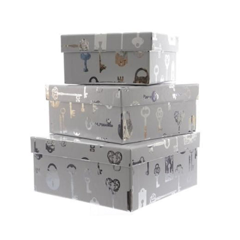 Pap Gift Box With Key Design KA451362: Large