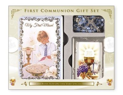 Boy Communion Gift Set With Photo Frame