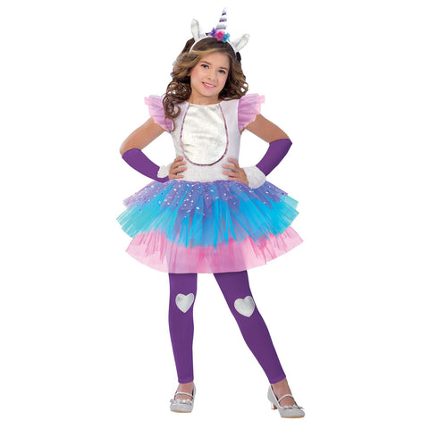 Child Magical Unicorn Girls Costume