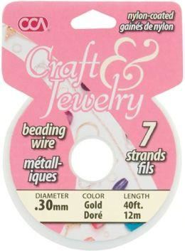 0.3Mm Beading Wire - Gold (40Ft)