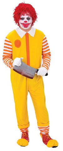 Adult Happy Clown Jumpsuit Ronald McDonald Inspired Mens Costume