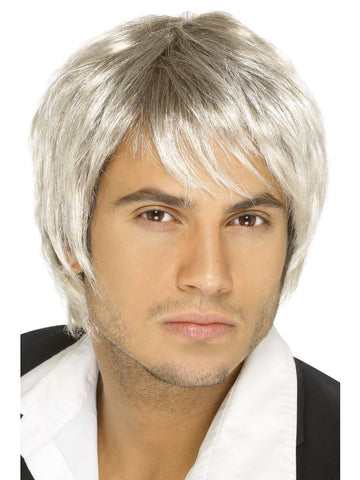 Blonde and Brown Boy Band Wig