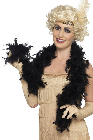 Feather Boa 50g - Black - 150cm
