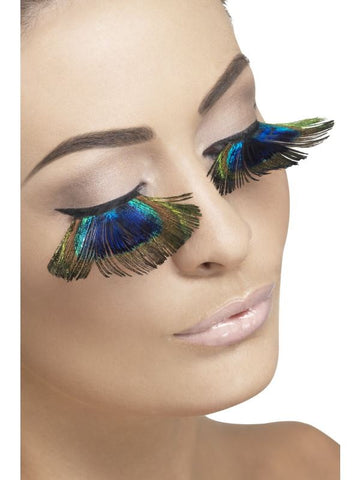 Fever Eyelashes with Peacock Feathers