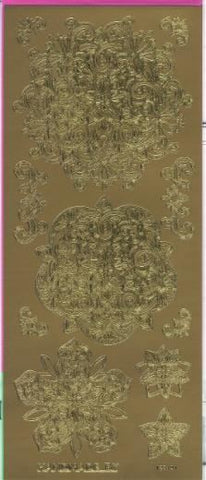 Peel Off Ornate Decorative Designs Gold