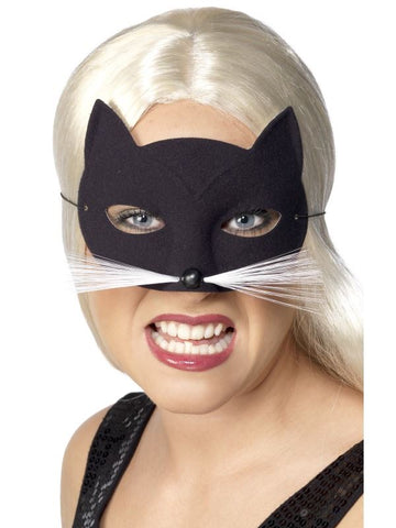 Black Plain Cat Eye Mask