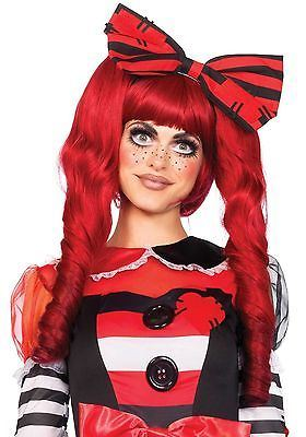 Leg Avenue Dolly Bob Wig With Clips : Red