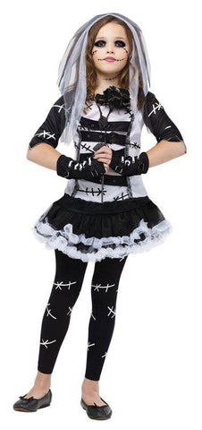 Child Monster Bride Girls Costume