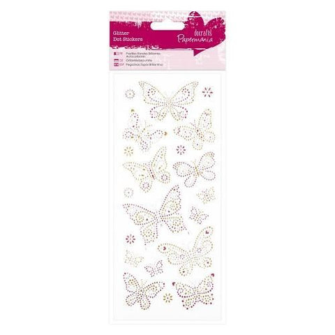 Glitter Dot Stickers - Butterflies