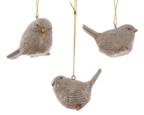 Bird Decoration with hanger (3assorted 1 supplied) - 6.4x3.3x4.8cm
