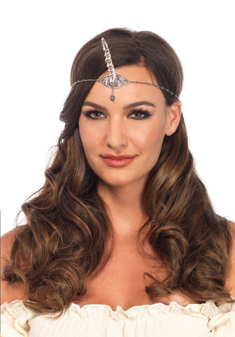 Leg Avenue Silver unicorn horn head piece