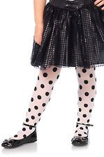 Child Leg Avenue Sheer Printed Polka Dot Tights:  S