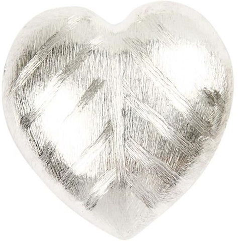 Big Heart 40X35X13 Mm Brushed Sil