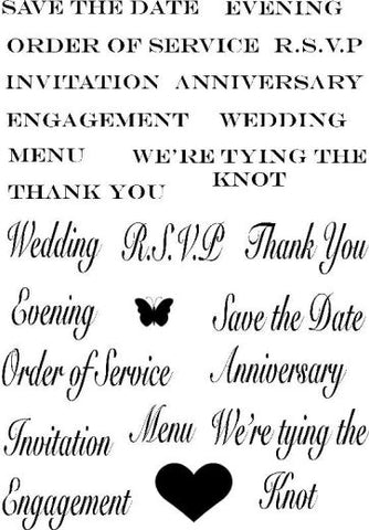 Wedding Sentiments Rubber Stamps