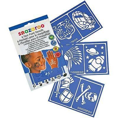 Face Paint Stencil Set of 6 - Boy/Adventure