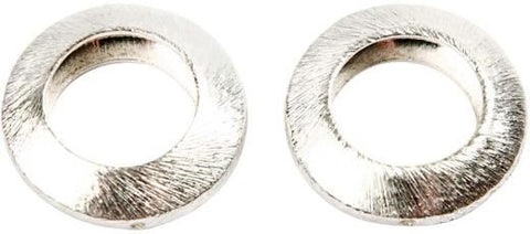 Circle 20X20X6 Mm Brushed Silver