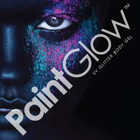 Paint Glow - Neon UV Glitter Face & Body Gels - 13ml: Peach Paradise